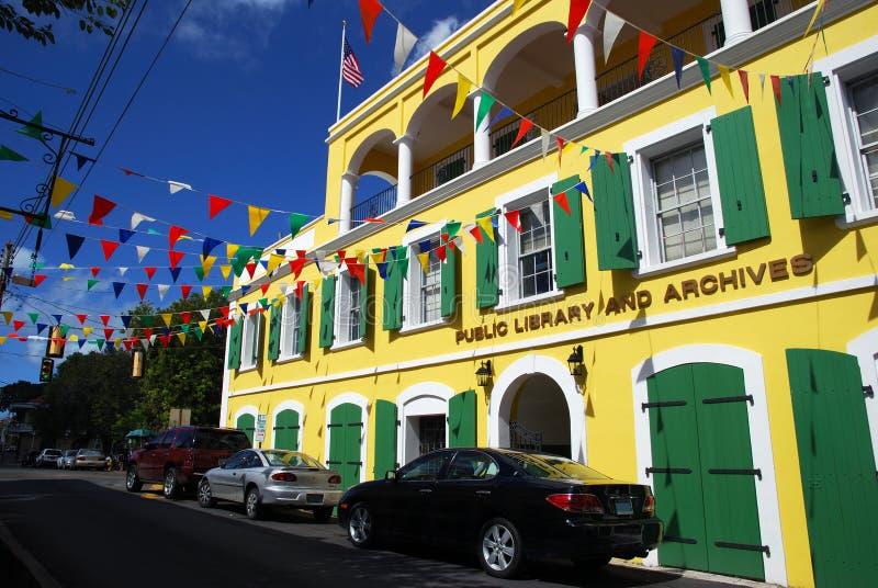 Biblioteca pubblica di Charlotte Amalie fotografia stock libera da diritti