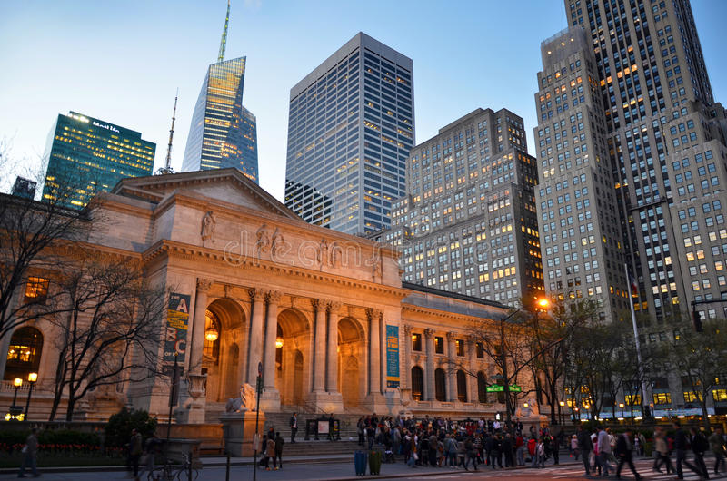 Biblioteca pubblica di New York fotografia stock