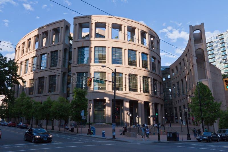 Biblioteca pubblica di Vancouver fotografia stock