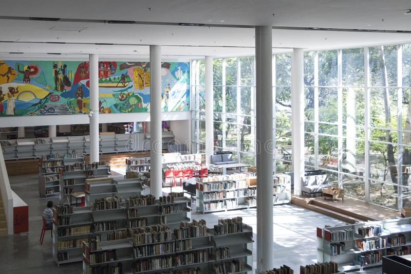 Biblioteca pubblica medellin biblioteca pública piloto giorno di apertura dicembre 2018 immagini stock libere da diritti