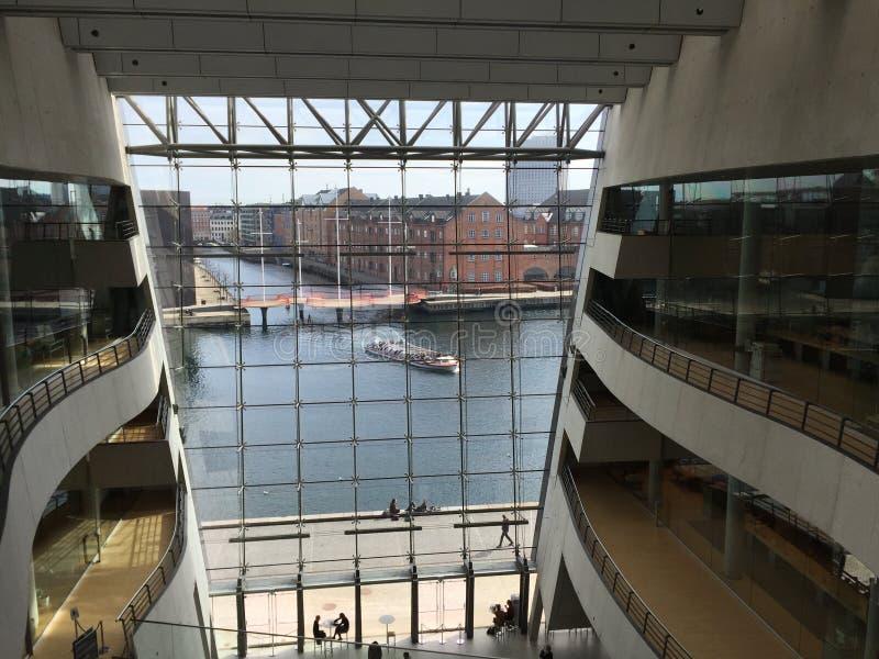 Biblioteca real de Copenhague fotos de archivo