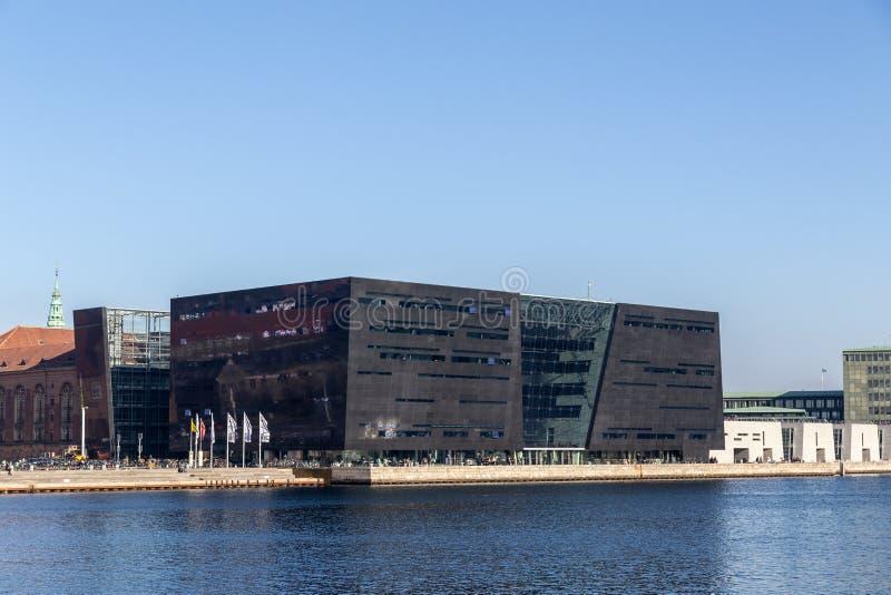 A biblioteca real em Copenhaga, Dinamarca fotografia de stock royalty free