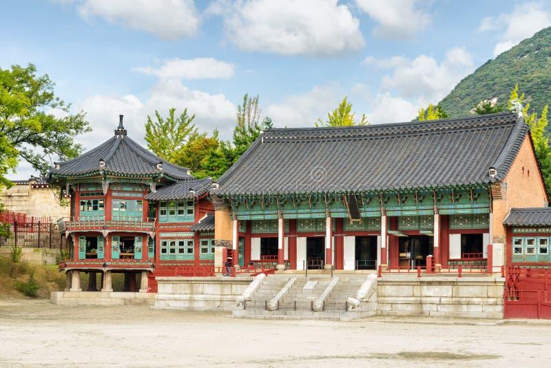 Biblioteca reale privata di Jibokjae del palazzo di Gyeongbokgung, Seoul fotografie stock libere da diritti