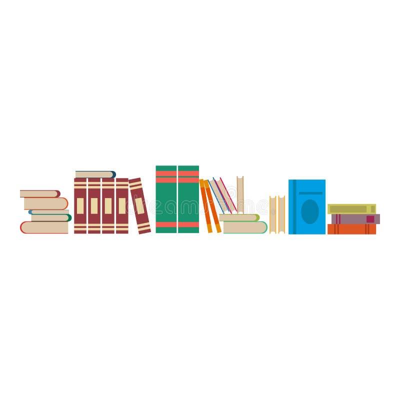 A biblioteca registra o fundo da ilustração do vetor Estudo liso da prateleira ilustração do vetor