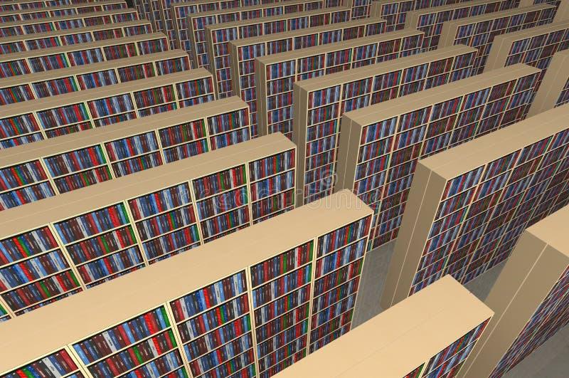 Biblioteca sin fin ilustración del vector