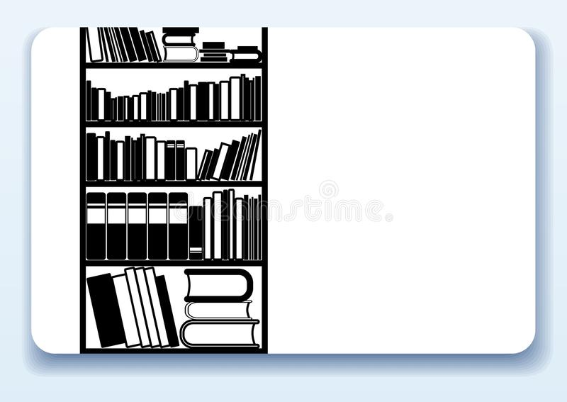 Biblioteca, tarjeta de visita ilustración del vector