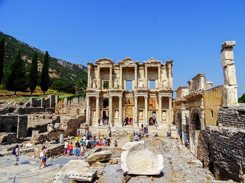 Biblioteca Turquía de Ephesus Celsus fotos de archivo