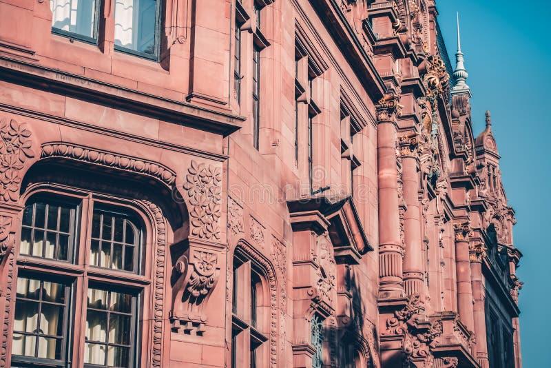 Biblioteca vieja en el campus en la ciudad de Heidelberg en Alemania Vista histórica fotos de archivo libres de regalías