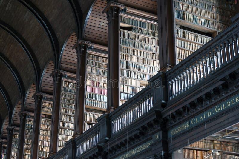 Biblioteca vieja, universidad de la trinidad, Dublín, Irlanda fotografía de archivo libre de regalías