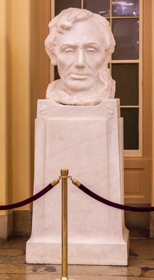 Biblioteca Washington del congresso del busto fotografie stock