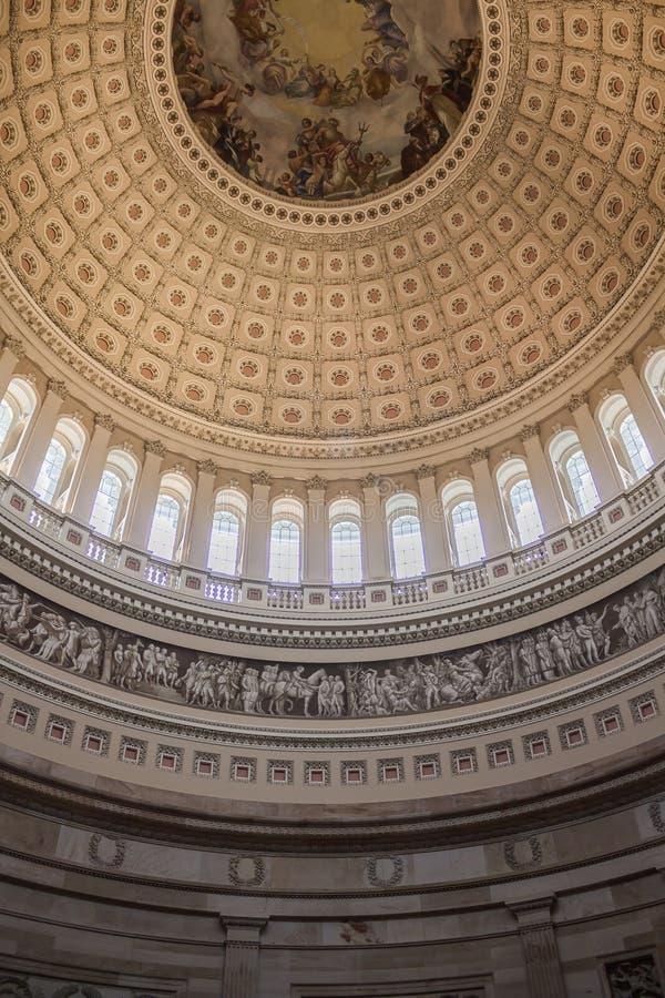 Biblioteca Washington rotunda del congresso immagini stock libere da diritti