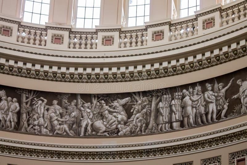 Biblioteca Washington rotunda del congresso fotografia stock