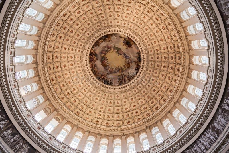 Biblioteca Washington rotunda del congresso fotografie stock libere da diritti