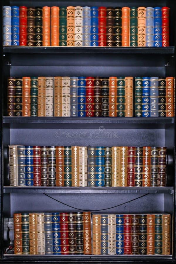 biblioteczne książki obrazy stock