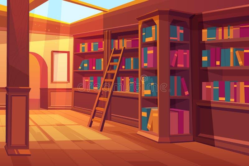 Bibliotecznego wnętrza pusty pokój dla książek czytać ilustracji