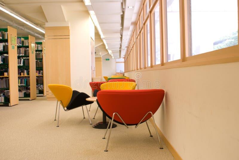 biblioteczni siedzenia zdjęcie royalty free