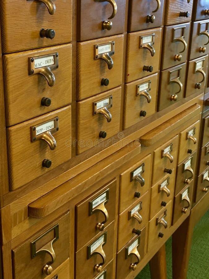 Biblioteczny karciany katalog obraz stock