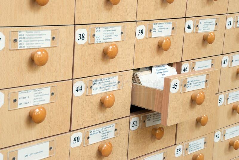 Biblioteczny Karciany katalog zdjęcia royalty free