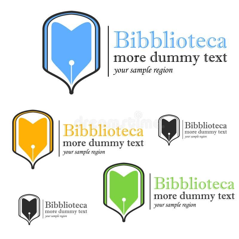 Biblioteczny logo royalty ilustracja