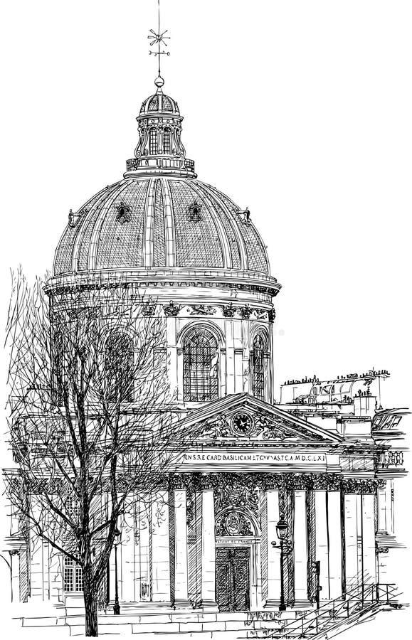 biblioteczny mazarine Paris ilustracja wektor