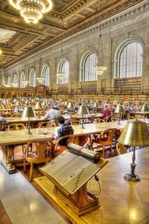 biblioteczny nowy jawny York zdjęcie stock