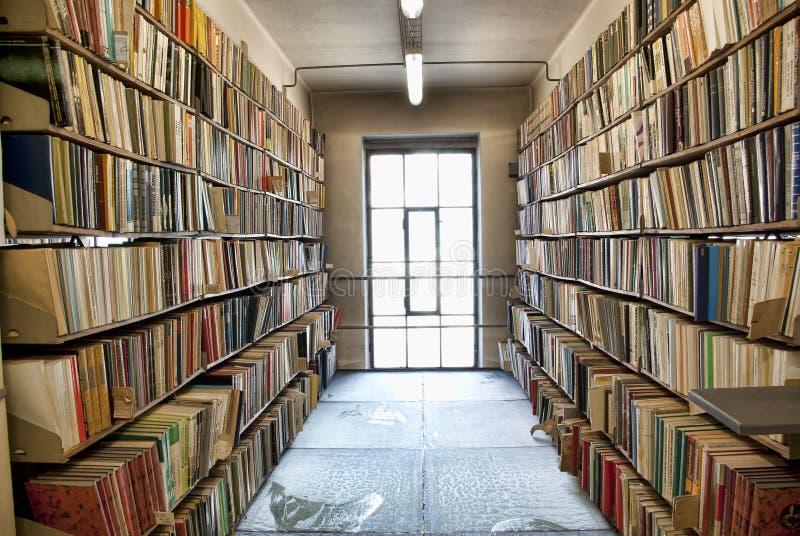 Biblioteczny składowy pokój fotografia stock