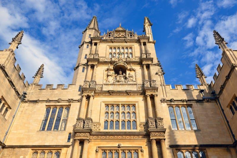 Biblioteka Bodleian, Oxford, Anglia, Zjednoczone Królestwo zdjęcie stock