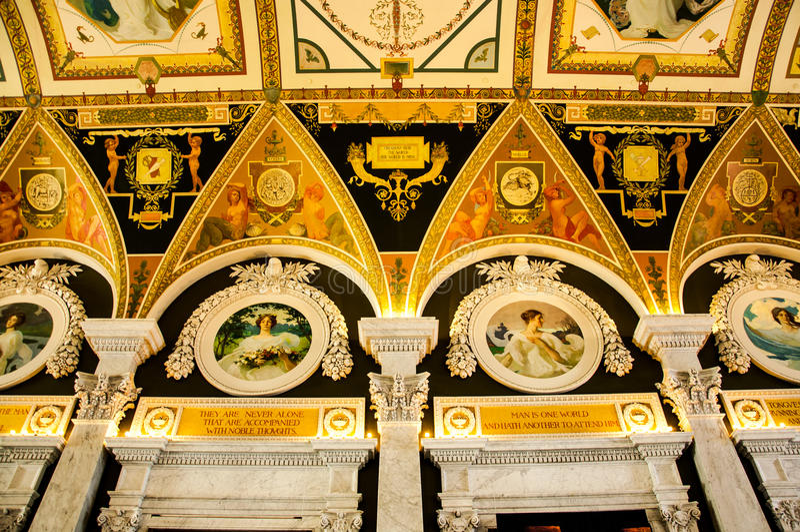 Biblioteka Kongresu, Waszyngton, DC, usa zdjęcia stock