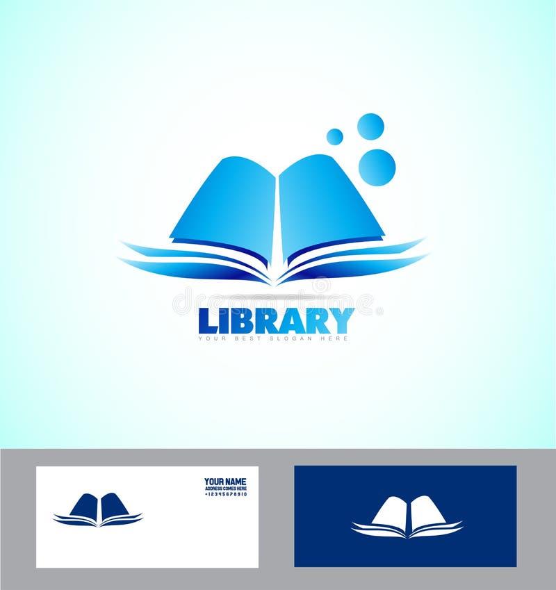 Biblioteka loga książkowa ikona royalty ilustracja