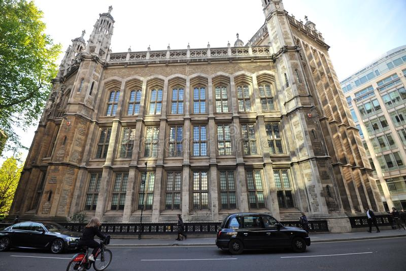 Biblioteka Maughan jest główną uniwersytecką biblioteką badawczą King's College London zdjęcie royalty free