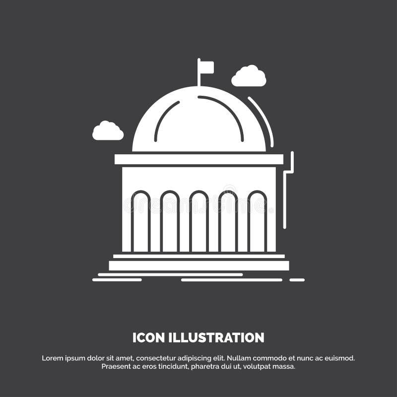 Biblioteka, szkoła, edukacja, uczenie, uniwersytecka ikona glifu wektorowy symbol dla UI, UX, strona internetowa i wisz?cej ozdob ilustracji