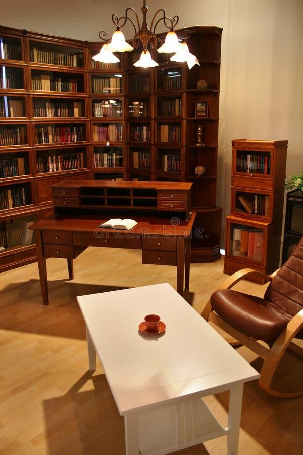 biblioteka w domu fotografia royalty free
