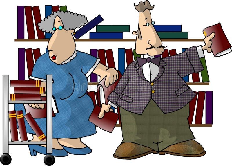 bibliotekarze ilustracja wektor