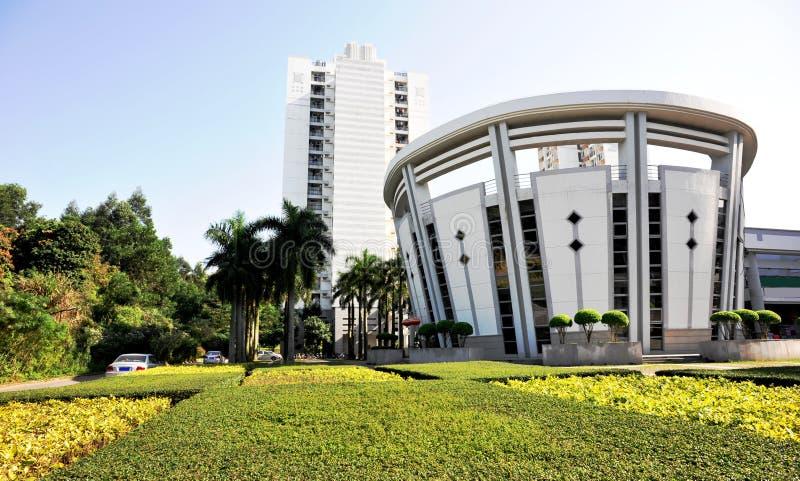 Bibliothèque à la ville d'université de shenzhen image libre de droits