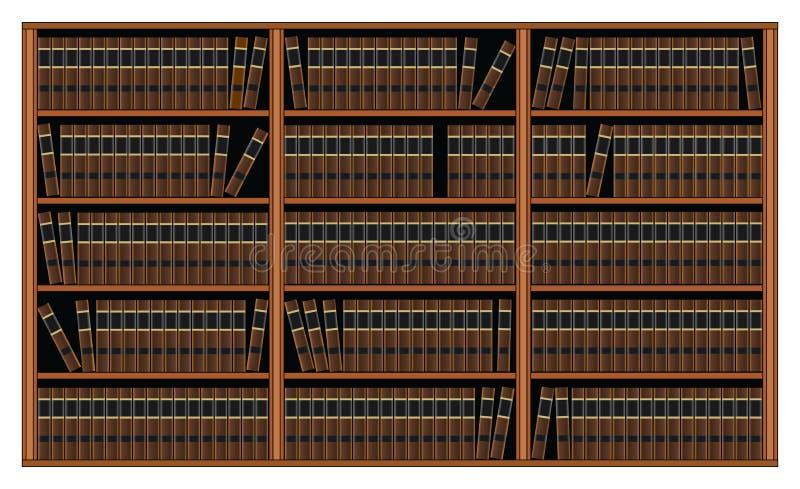 Bibliothèque avec des livres - bibliothèque illustration libre de droits