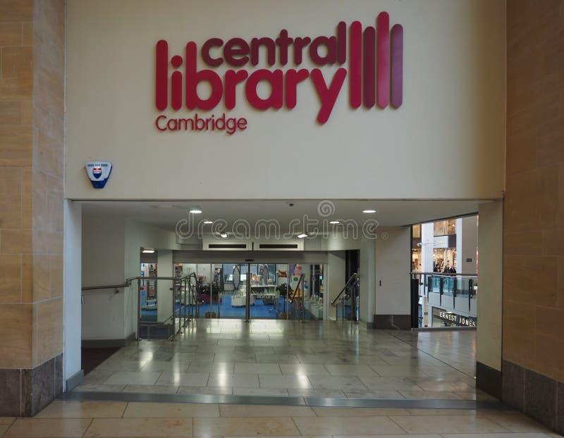 Bibliothèque centrale de Cambridge images libres de droits