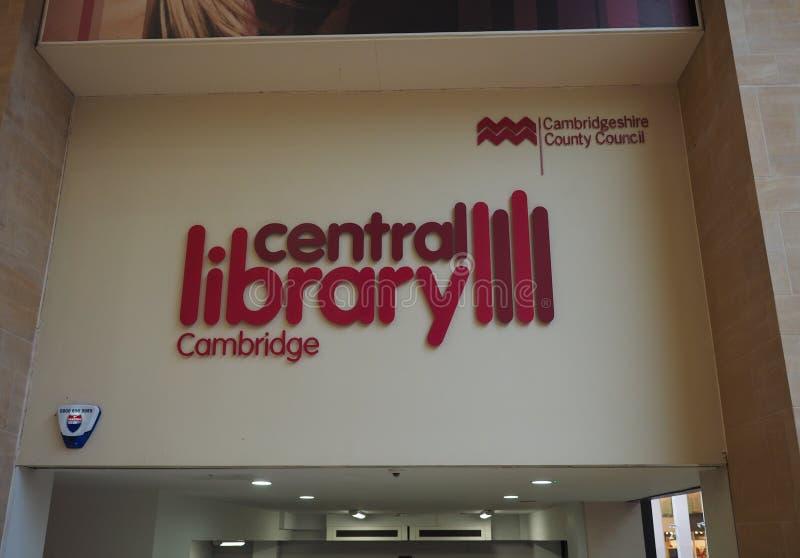 Bibliothèque centrale de Cambridge photos libres de droits