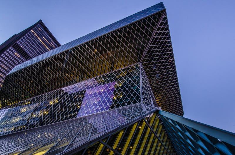 Bibliothèque centrale de Seattle photo stock