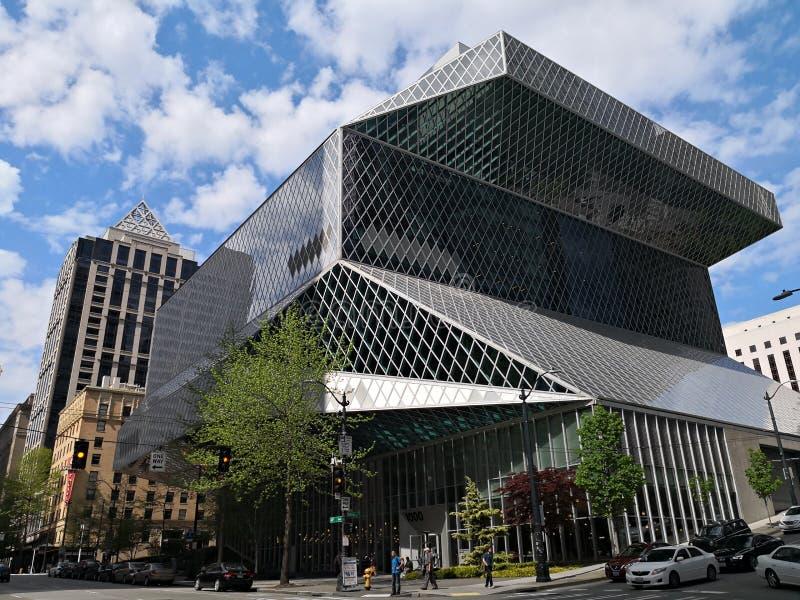 Bibliothèque centrale de Seattle - Seattle, Etats-Unis image libre de droits