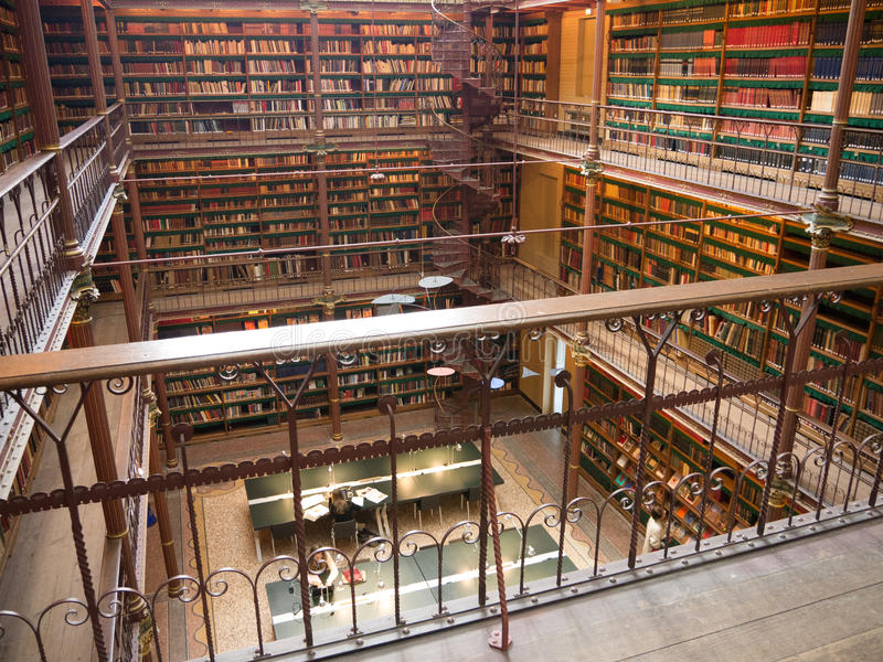 Bibliothèque chez Rijksmuseum, Amsterdam image stock