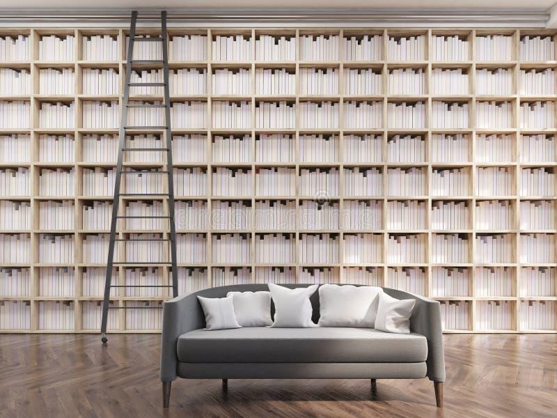 Bibliothèque confortable d'appartement illustration de vecteur
