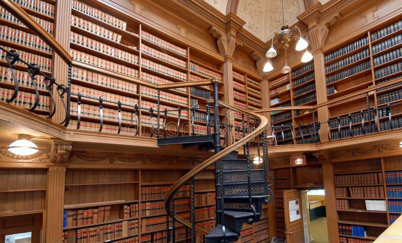 Bibliothèque d'école de droit photographie stock libre de droits
