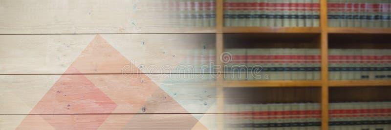 Bibliothèque d'éducation avec la transition en bois illustration de vecteur
