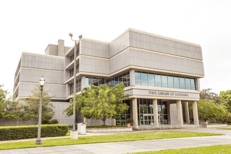 Bibliothèque d'état de la Louisiane à Baton Rouge photographie stock libre de droits