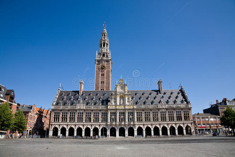 Bibliothèque d'université, Louvain images stock