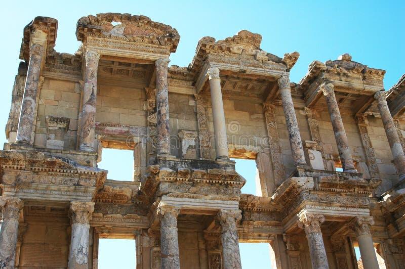 Bibliothèque dans Efez, Turquie image stock