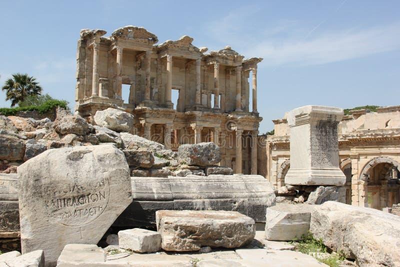 Bibliothèque de Celcus photos libres de droits