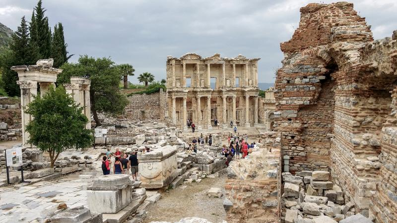 Bibliothèque de Celsius, Ephesus, Turkey2 image libre de droits