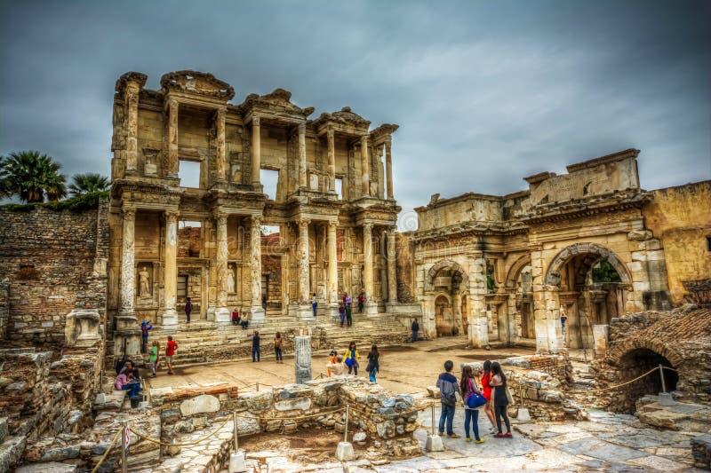 Bibliothèque de Celsus, Ephesus images libres de droits