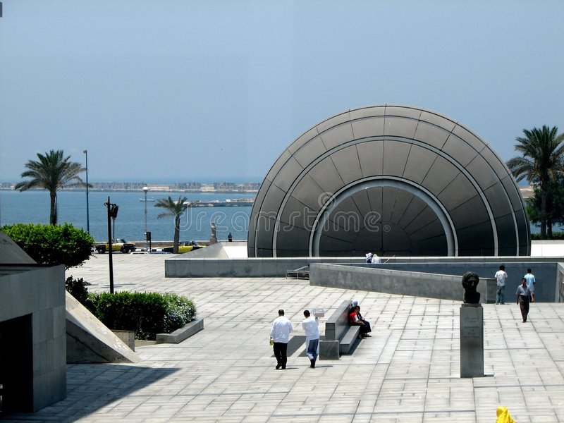bibliothèque de l'Alexandrie photo libre de droits